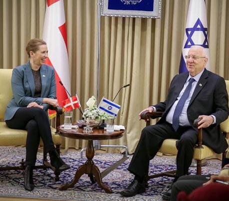 Mette Frederiksen i Israel